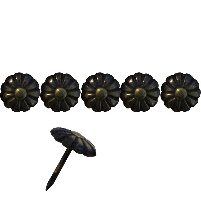 """200 Clous tapissiers \\""""Ivry\\"""" Bronze Renaissance 11 mm - marguerite - Clous tapissier"""