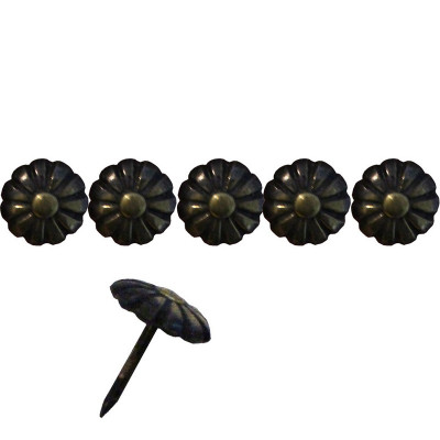 """100 Clous tapissiers """"Ivry"""" Bronze Renaissance 11 mm - Forme marguerite"""