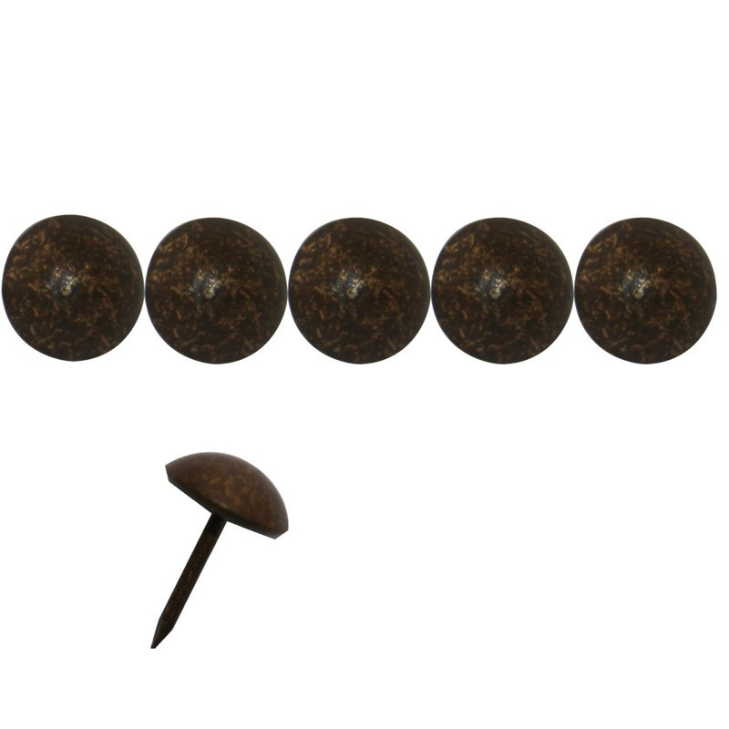 200 Clous tapissiers Laiton Vieilli Moyen 11 mm - Clous tapissier