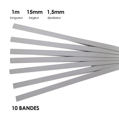 Carton à anglaiser 15x1,5 mm, 10 bandes de 1m
