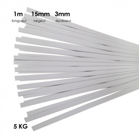 Carton à anglaiser 15x3 mm, 5 kg de bandes d' 1m - Fournitures tapissier
