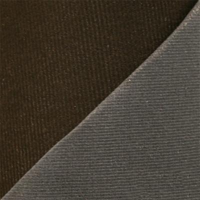 Maille grattée (toile jersey) marron - grise en 150 cm - le mètre