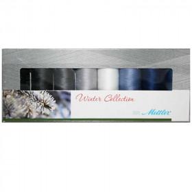 Kit de 8 Bobines de fils SERALON 200m - Winter Collection - Mercerie