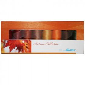Kit de 8 Bobines de fils METTLER SERALON 200m - Autumn Collection - Mercerie