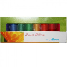 Kit de 8 Bobines de fils METTLER SERALON 200m - Summer Collection - Mercerie