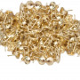 10 Clous pour bande de clous factices en fer laitonné 9,5 mm - Clous tapissier