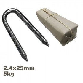 Conduit ou crampillon acier 2.4 x 25 mm sachet de 5kg - Fournitures tapissier