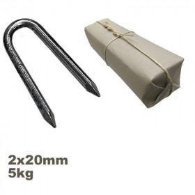 Conduit ou crampillon acier 2.0 x 20 mm sachet de 5kg - Fournitures tapissier