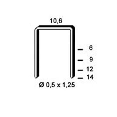 Agrafes Type PF-06 ALSAFIX pour agrafeuse manuelle LT1 par 5000