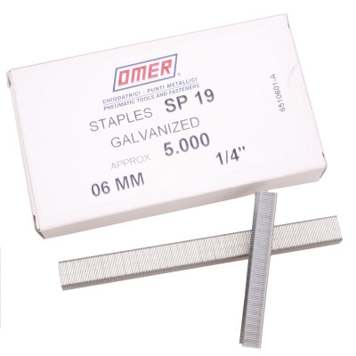 Agrafes OMER 6 mm SP1906, par 5000