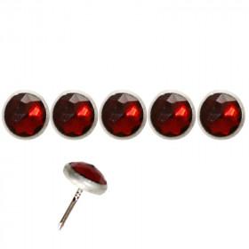 100 Clous tapissiers Diamant rouge 11 mm - Clous tapissier