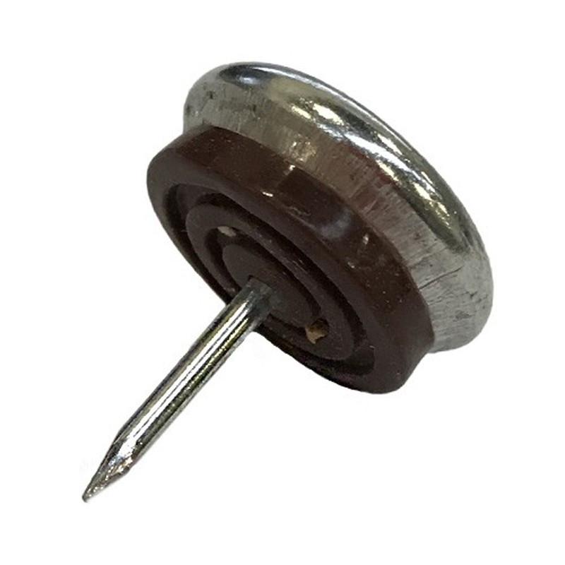 Patin glisseur acier nickelé 1 pointe 40mm - Fournitures tapissier