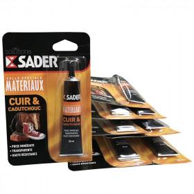 Colle Spéciale Cuir & caoutchouc - SADER 30 ml, Lot x8 - Fournitures tapissier