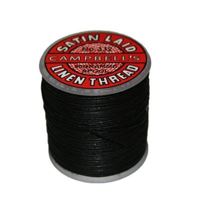 Fil de lin 332 Noir, bobine de 50g