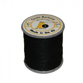 Fil de lin 432 Noir 18/3, bobine de 50g - Mercerie
