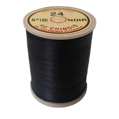 """Fil de lin 24 Noir 180 """"Au Chinois"""" - bobine de 265 mètres"""