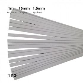 Carton à anglaiser 15x1,5 mm, 1 kg de bandes de 1m - Fournitures tapissier