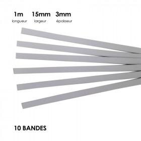 Carton à anglaiser 15x3 mm, 10 bandes de 1m - Fournitures tapissier