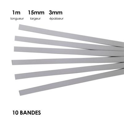 Carton à anglaiser 15x3 mm, 10 bandes de 1m