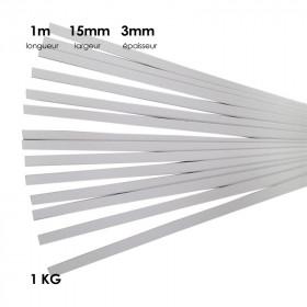 Carton à anglaiser 15x3 mm, 1 kg de bandes d' 1m - Fournitures tapissier