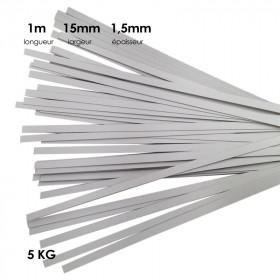 Carton à anglaiser 15x1,5 mm, 5kg de bande de 1m - Fournitures tapissier