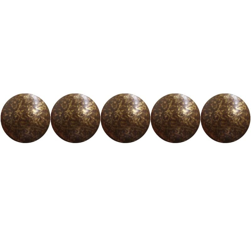 """1000 Clous tapissiers \\""""Ivry\\"""" Vieilli Bronze Doré 10.5 mm - Perle Laiton - Clous tapissier"""