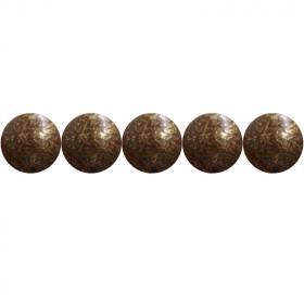 """100 Clous tapissiers \\""""Ivry\\"""" Vieilli Bronze Doré 10.5 mm - Perle Laiton - Clous tapissier"""
