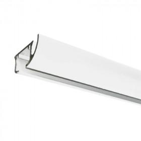 Rail rideau DS blanc sans accessoires - 50 cm à 1m90 - Habillage de la fenêtre