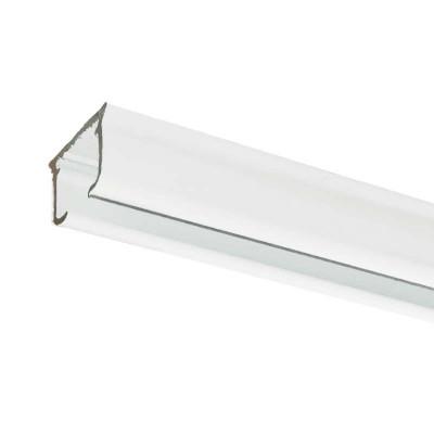 Rail rideau KS blanc sans accessoires - 1m91 à 2m90