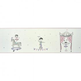 CASADECO - Alice et Paul - Frise Cirque - Violet irisé