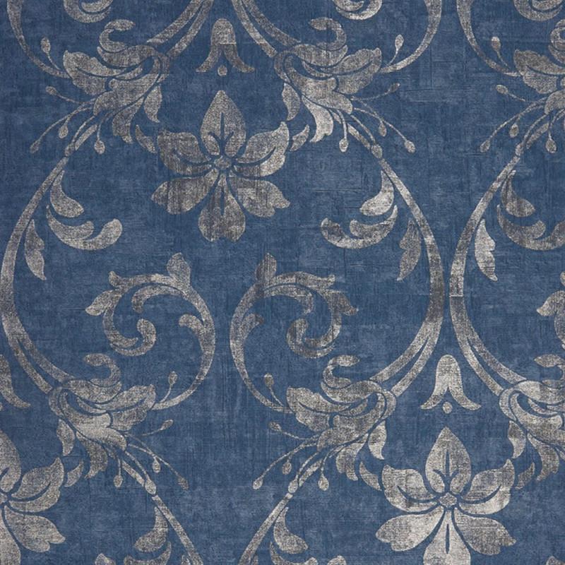 Papier Peint Casadeco Majestic Art Nouveau Bleu