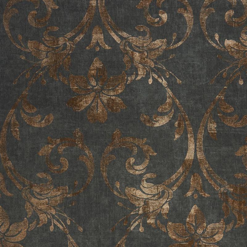 Papier Peint Casadeco Majestic Art Nouveau Noir Cuivre