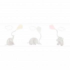 CASADECO - My Little World - Frise Éléphant Rose