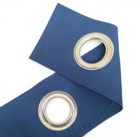 Bande à oeillets auto-agrippante Bleu foncé - au mètre - Habillage de la fenêtre