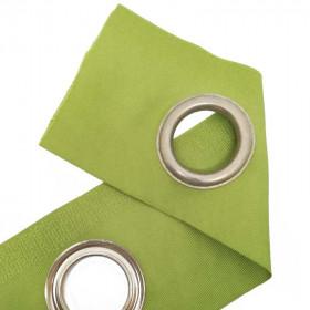 Bande à oeillets auto-agrippante Vert - au mètre - Habillage de la fenêtre