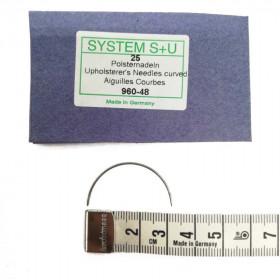 Carrelets courbes fins 48mm Par 25 - Chas intérieur - Outils tapissier
