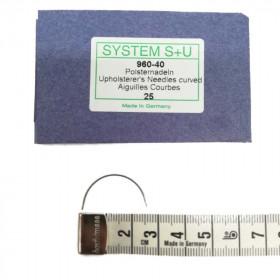 Carrelets courbes fins 40mm Par 25 - Chas intérieur - Outils tapissier