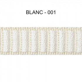 Galon reps 12 mm - Blanc 001 - Passementerie