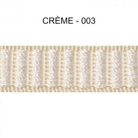 Galon reps 12 mm - Crème 003 - Passementerie