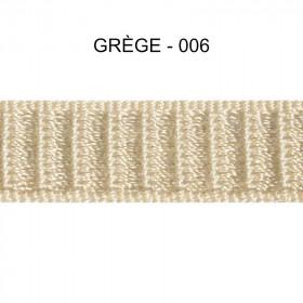 Galon reps 12 mm - Grège 006 - Passementerie