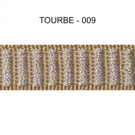 Galon reps 12 mm - Tourbe 009 - Passementerie