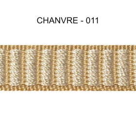 Galon reps 12 mm - Chanvre-011 - Passementerie
