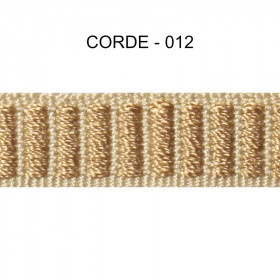 Galon reps 12 mm - Corde 012 - Passementerie