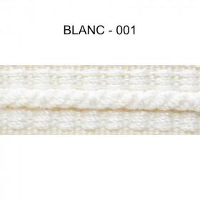 Galon cordonnet 12 mm Blanc 001 - Passementerie