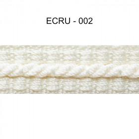 Galon cordonnet 12 mm Ecru 002 - Passementerie