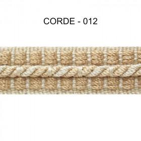 Galon cordonnet 12 mm Corde 012 - Passementerie