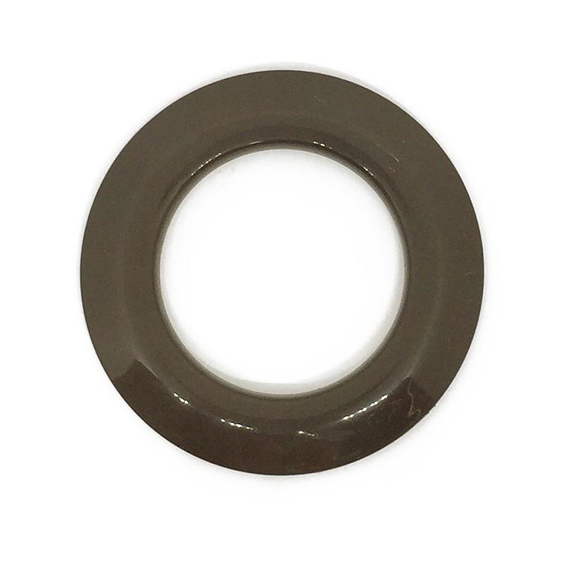 illets rideaux clipser 44 mm marron glossy anneaux de rideaux. Black Bedroom Furniture Sets. Home Design Ideas