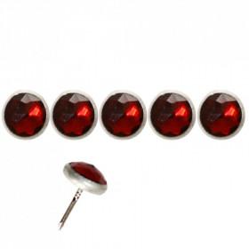 Clous Diamant rouge 11mm par 10 - Clous tapissier