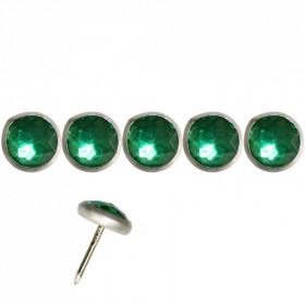 Clous Diamant vert 11mm par 100 - Clous tapissier