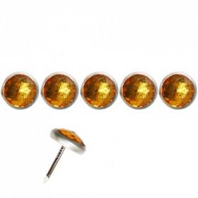 Clous Diamant jaune 11mm par 10 - Clous tapissier